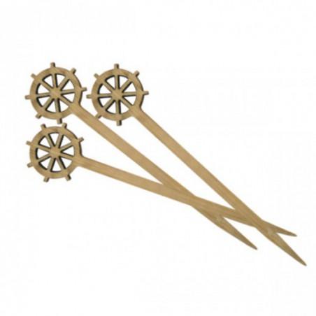 Spiedi di Bambu Decorato Timone 90mm (100 Pezzi)