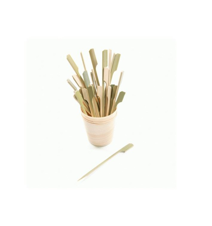 Spiedi di Bambu Decorato Remo 120mm (100 Pezzi)