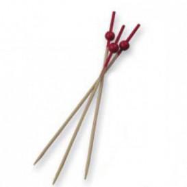 Spiedi di Bambu Ball Rosso 90 mm (100 Pezzi)