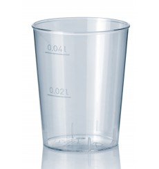 Bicchiere Plastica Rigida Trasparente PS 40 ml (50 Pezzi)