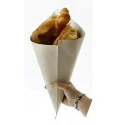 Cono di Carta Greaseproof Parchment 400mm (1.800 Pezzi)