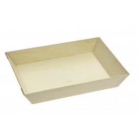 Vassoio di Legno 15,5x8,5x2,8cm (100 Pezzi)