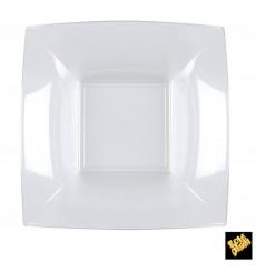 Piatto Plastica Fondo Quadrato Trasp. 180mm (25 Pezzi)
