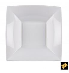 Piatto Plastica Fondo Quadrato Argento 180mm (150 Pezzi)