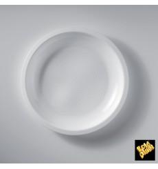 Piatto Plastica Piano Bianco Ø220mm (50 Pezzi)