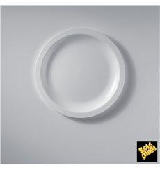 Piatto Plastica Piano Bianco Ø185mm (50 Pezzi)
