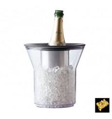 Secchio di Plastica per 1 Bottiglia Trasp. SAN (1 Pezzi)