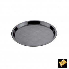 Vassoio Plastica Tray Nero Ø32cm (5 Pezzi)