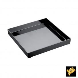 Vassoio di Plastica Tray Nero 30x30cm (9 Pezzi)