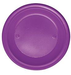 Piatto di Plastica Fondo Viola PS 220mm (30 Pezzi)