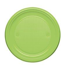 Piatto di Plastica Piano Verde PS 170mm (50 Pezzi)