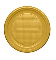 Piatto di Plastica Piano Oro PS 170mm (1100 Pezzi)