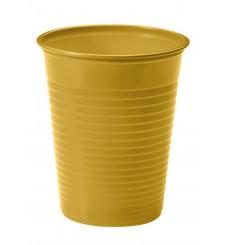 Bicchiere di Plastica Oro PS 200ml (50 Pezzi)