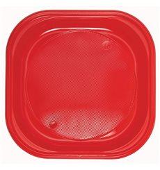 Piatto di Plastica Piazza Piano Nero PS 170mm (30 Pezzi)