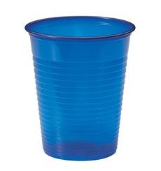 Bicchiere di Plastica Blu Scuro PS 200ml (50 Pezzi)