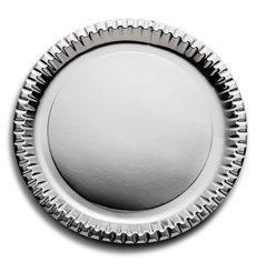 Piatto di Carta Tondo Argento 290mm (6 Pezzi)