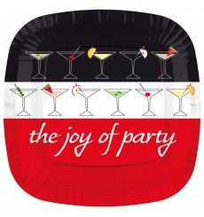 Piatto di Plastica Piazza Piano  ''Joy of Party'' 170mm (8 Pezzi)