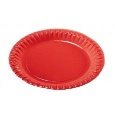 Piatto di Carta Tondo Rosso 290mm (60 Pezzi)