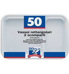 Vaschette Bianco 2 Scomparti 270x180mm (300 Pezzi )