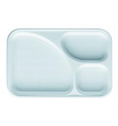 Vaschette Bianco 3 Scomparti 315x210mm (400 Pezzi )