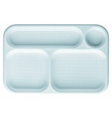 Vaschette Bianco 4 Scomparti 360x240mm (100 Pezzi )