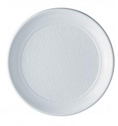 Piatto di Plastica Piano Bianco PS 250 mm (100 Pezzi)