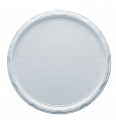 Piatto Plastica Pizza Bianco 280mm (100 Pezzi)