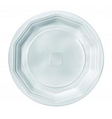 Piatto di Plastica Fondo Bianco PS 220 mm (100 Pezzi)