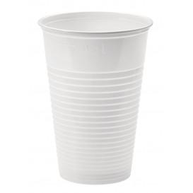 Bicchiere di Plastica PP Bianco 230ml Ø7,0cm (100 Pezzi)