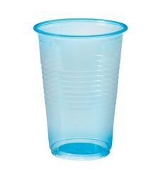 Bicchiere di Plastica Blu Transparente PP 230ml (100 Pezzi)