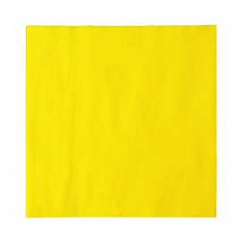 Tovagliolo di Carta 2 Velis Giallo 33x33cm (50 Pezzi)
