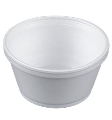Coppette Termici EPS Bianco 8OZ/240ml Ø108mm (50 Pezzi)