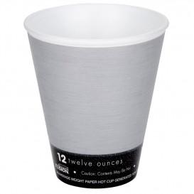 "Bicchiere Termici EPS ""Fusion"" Grigio 12Oz/355ml Ø9,4cm (25 Pezzi)"