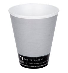 "Bicchiere Termici EPS ""Fusion"" Grigio 12Oz/355ml Ø94mm (25 Pezzi)"