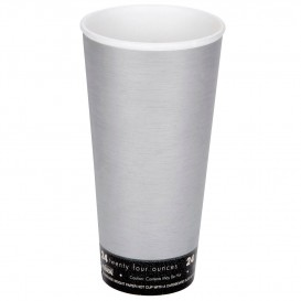 "Bicchiere Termici EPS ""Fusion"" Grigio 24Oz/710ml Ø94mm (500 Pezzi)"