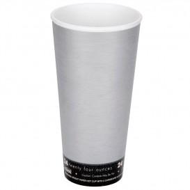 "Bicchiere Termici EPS ""Fusion"" Grigio 24Oz/710ml Ø94mm (20 Pezzi)"