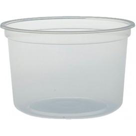 """Contenitore di Plastica PP """"Deli"""" 16Oz/473ml Trasp. Ø120mm  (25 Pezzi)"""