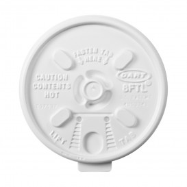 "Coperchio ""Lift n' Lock"" PS Bianco Ø8,1cm (1000 Pezzi)"