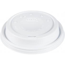 """Coperchio di plastica PS """"Cappuccino"""" Bianco 24Oz/710 ml (100 Pezzi)"""