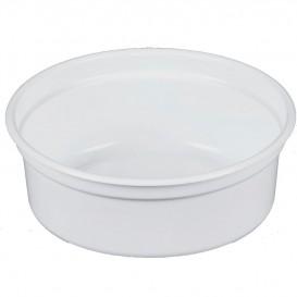 """Contenitore di Plastica PP """"Deli"""" 8Oz/266ml Bianco Ø120mm (25 Pezzi)"""