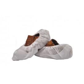 Copriscarpe TNT Di PP Bianco con Suola Antiscivolo CPE  Bianco (50 Pezzi)