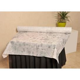 """Tovaglia Rotolo Non Tessuto Bianco """"Stampa"""" 1,2x48m 50g (1 Unità)"""