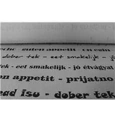 """Tovaglia Carta Rotolo """"Buon Appetito"""" Bianco 1,2x100m 37g (1 Unità)"""