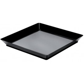 Vassoio Degustazione MediumNero 13x13 cm (12 Pezzi)