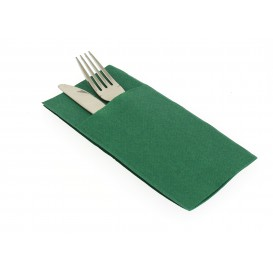 Tovagliolo Portaposate di Carta 40x40cm Verde (30 Pezzi)