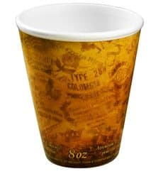 "Bicchiere Termici EPS ""Fusion"" Arancione 9Oz/266ml Ø8,1cm (1000 Pezzi)"