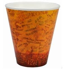 "Bicchiere Termici EPS ""Fusion"" Arancione 12Oz/355ml Ø9,4cm (25 Pezzi)"