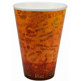 "Bicchiere Termici EPS ""Fusion"" Arancione 16Oz/473ml Ø9,4cm (1000 Pezzi)"