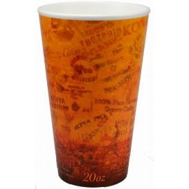 "Bicchiere Termici EPS ""Fusion"" Arancione 20Oz/591ml Ø9,4cm (500 Pezzi)"
