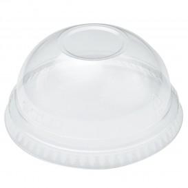 Coperchio a Cupola senza Foro per Bicchieri PET Solo Ultra Clear 16Oz e 24Oz Ø9,86 (100 Pezzi)